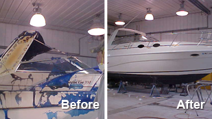 Rinker Before and After - Boat Repair